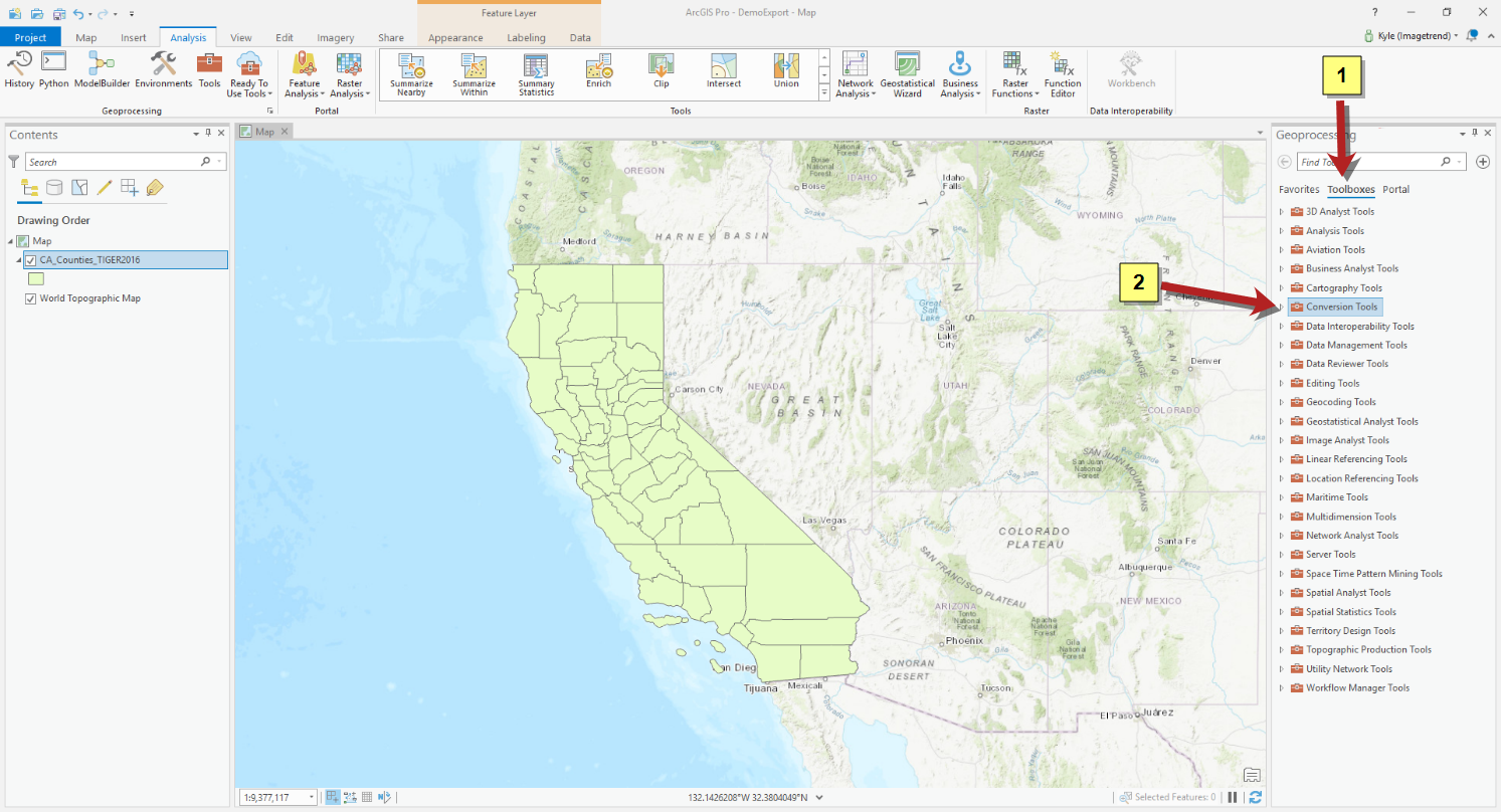 Generating a JSON Map File from a KML File with ArcGIS